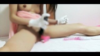 Insert a vibrator in the pussy❤ Practice to orgasm in the vagina【Japanese girl】
